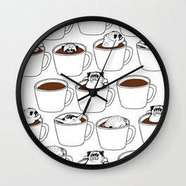 More Coffee Pug Wall Clock