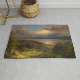 "Frederic Church ""View of Cotopaxi"" (1867) Rug"