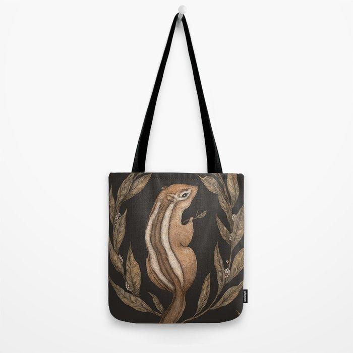 The Chipmunk and Bay Laurel Tote Bag