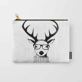 Hipster deer Carry-All Pouch