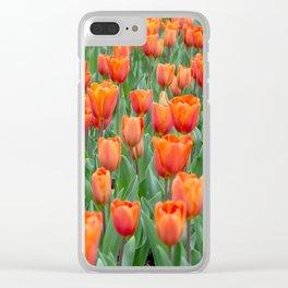 Sea of 'Amazone' Triumph Tulips Clear iPhone Case