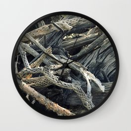 Driftwood In Bucolic Repose Wall Clock