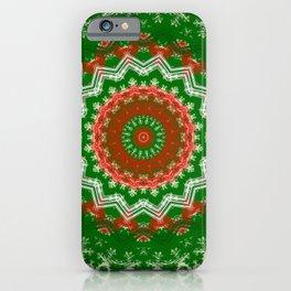 Holiday Mandala Design iPhone Case