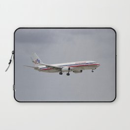 American Airlines Airplane Landing at Miami International Laptop Sleeve