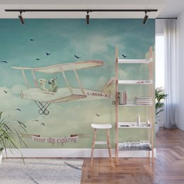 ALPACAS EXPLORING III - THE SKY Wall Mural