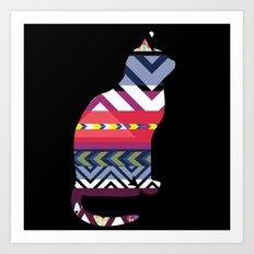 Tribal Feline Art Print