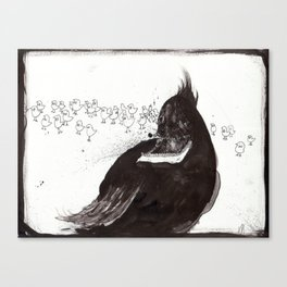 Chirpin' Hard Canvas Print