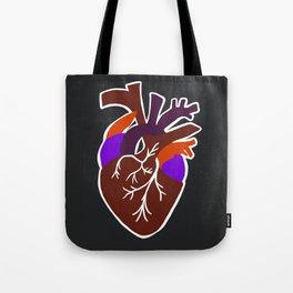 anatomic heart Tote Bag