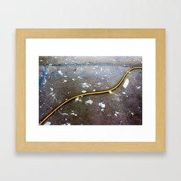 Yellow Path Framed Art Print