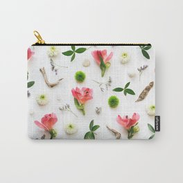 Pattern With Red Alstroemeria Carry-All Pouch