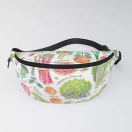 Spring Harvest Pattern Annotated Fanny Pack