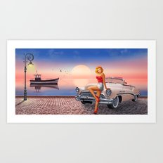 Waiting for the sweetheart Art Print