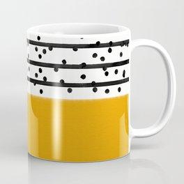 Mustard yellow and black Coffee Mug