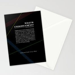 Philosophia I: What is Enlightenment? Stationery Cards