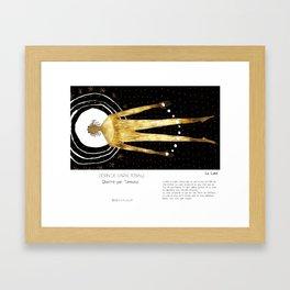 """""""La Lune"""" en Mots & Image illustré par Tarmasz (French Touch) Framed Art Print"""