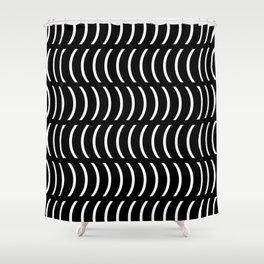 Smiley Big W&B Shower Curtain