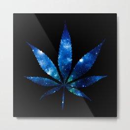Weed High Times Ocean Blue Metal Print