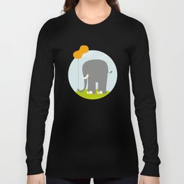 An Elephant With a Peanut Balloon Long Sleeve T-shirt