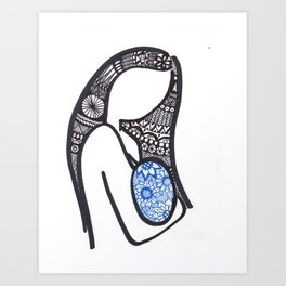 Motherhood Zen Art Print