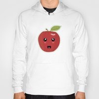 kawaii Hoodies featuring Kawaii Apple by Nir P