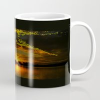 diver Mugs featuring sunset diver by ARTito