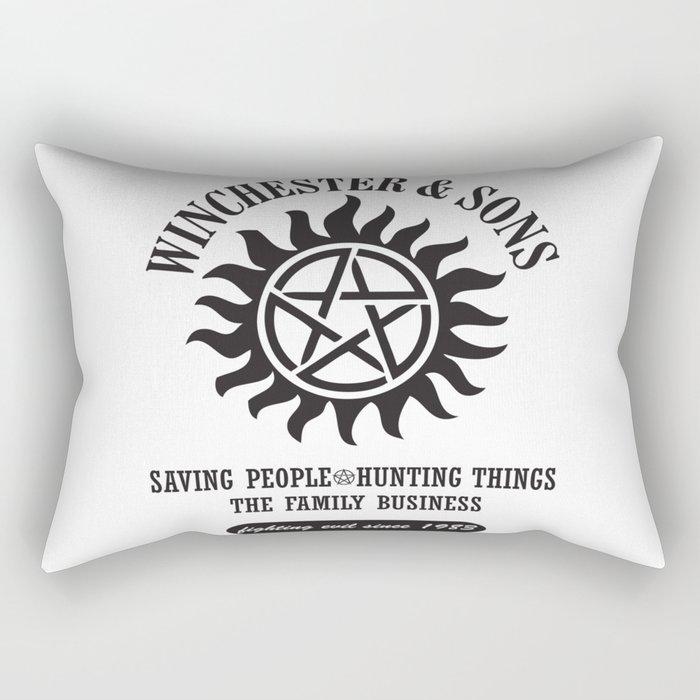 SUPERNATURAL WINCHESTER AND SONS Rectangular Pillow