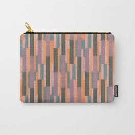 Colored sticks pattern <reddish grey> Carry-All Pouch
