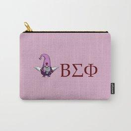 ΒΣΦ with Valentine's Gnome on Pink (BSP) Carry-All Pouch