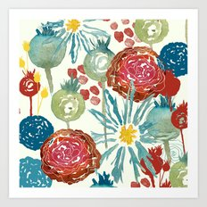 Wildflower Desert Art Print