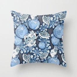 Persephone: Stormy Blue Skys  Throw Pillow