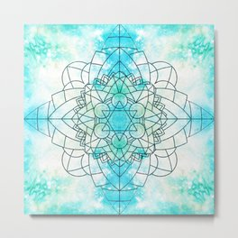 Frozen Mandala #mandala #artwork #buyart #society6 Metal Print