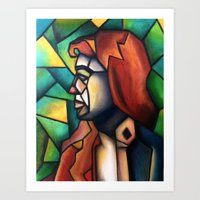 stained glass Art Prints featuring Stained Glass  by Alexa Brooke Rutledge