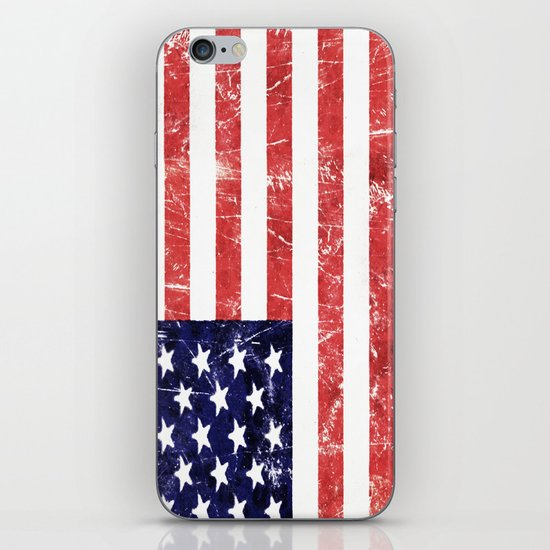 American Grunge Flag iPhone & iPod Skin