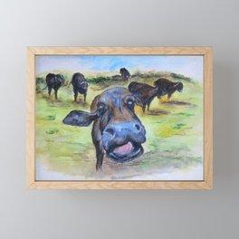 Water Buffao Kiss Framed Mini Art Print