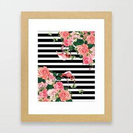 tropical flamingo Framed Art Print