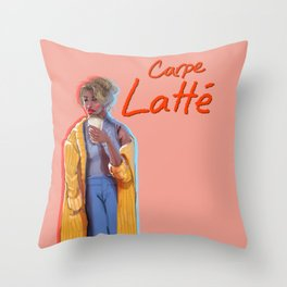 Carpe Latte Throw Pillow