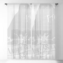Vintage Walrus Squad Sheer Curtain