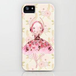 Isabella Bellarina Dancing on Flowers iPhone Case