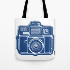 I Still Shoot Film Holga Logo - Blue Tote Bag