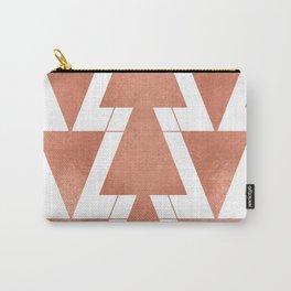 Peach Geometric Triangle Art Carry-All Pouch