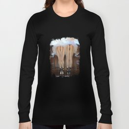 2 Feathered Showgirl Dancers On Point Long Sleeve T-shirt