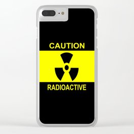 Caution Radioactive Clear iPhone Case