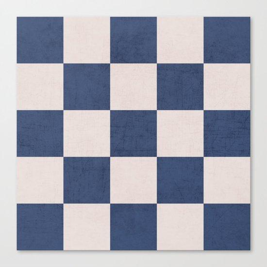 blue checks Canvas Print
