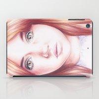 karen iPad Cases featuring karen gillan by Jill Schell