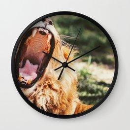 Lion Roar (Color) Wall Clock