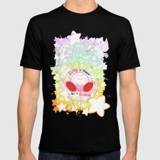 Kirby is shaped like a friend (shirt) LARGE Black Mens Fitted Tee