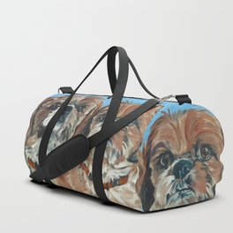 Shih Tzu Buddies Dog Portrait Duffle Bag