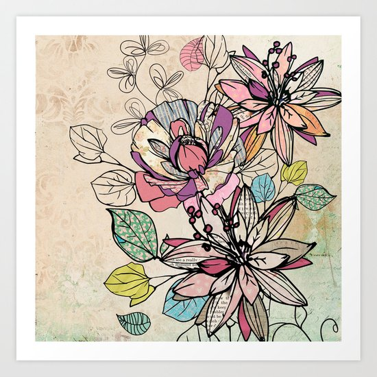 Paper Flowers #6 Art Print