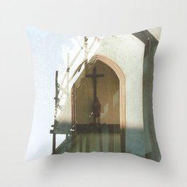 Christianity in Construction - overlapper Throw Pillow