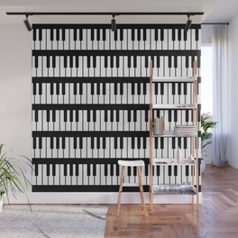 Black And White Piano Keys Pattern Wall Mural